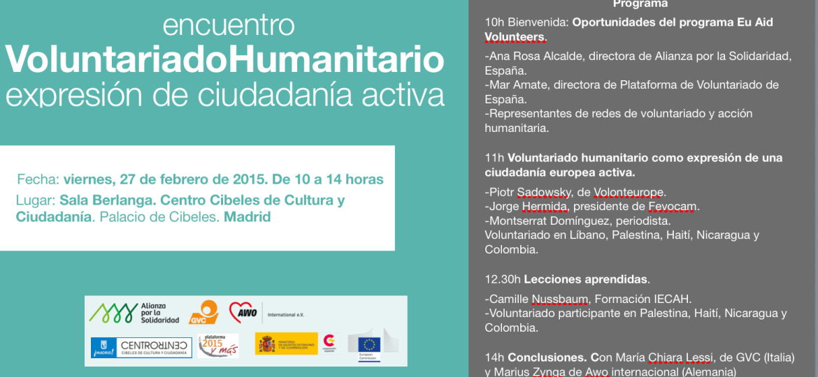 Humanitarian volunteers meeting in Madrid: for an active citizenship