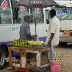 Street vendor at the bus station
